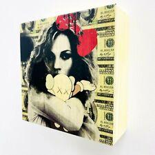 "Death NYC Mixed Media original Wooden canvas ""Kate XX"""