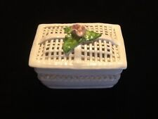 Lattice Trinket Box Jay Willfred Andrea by Sadek Hand Crafted Portugal exc cond.