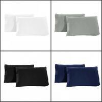 1800 Pillow Case Set - Queen (standard) or King - Set of 2 Pillow Cases New Hot