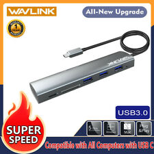 Wavlink Type-C to 3 USB3.0 Ports USB C Hub Adapter with SD/Micro SD Card Reader