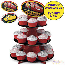 DISNEY CARS 3 PARTY SUPPLIES WILTON CUPCAKE STAND BIRTHDAY CAKE TREAT HOLDER