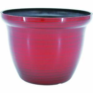 "Galena RED 7"" Diamater 5.5"" Height Resin Garden Planter Flower Pot"