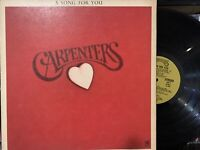 Carpenters ‎– A Song For You LP 1972 A&M Records ‎– SP 3511 EX/VG