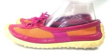 LAB G SERIES ColeHaan Pink Orange Driving Loafers Women's Shoes 8.5 B