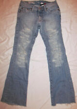 RED ENGINE destroued flare aged look jeans 27