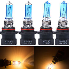 4x 9005XS + 9006XS White XENON HID HALOGEN Headlight Bulbs FOR LOW+HIGH Beam HS