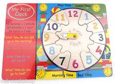 """BAMBINO """"Il mio primo orologio"""" IN LEGNO PUZZLE CLOCK"""