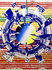 """JAMES ROSENQUIST Signed 1975 Original Color Screenprint/Pochoir - """"Miles"""""""
