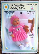 1  DOLLS KNITTING PATTERN byDAISY-MAY 4 ANNABELL or 17 to 19inch doll*No.259