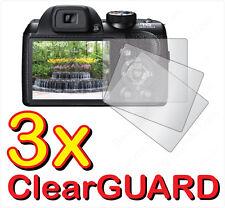 3x Fujifilm Fuji FinePix S4200 S4400 S4300 S4500 LCD Screen Protector Guard Film