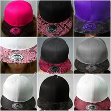 Snakeskin snapback caps, fresh flat peak baseball hats hip hop urban street