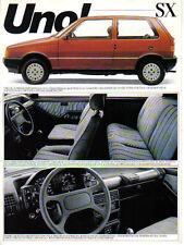 Fiat Uno SX 1300 Petrol Alcohol Late 1980s Brazilian Market Leaflet Brochure