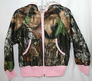 Mossy Oak Camo Pink Girl's Jacket, Camouflage Lightweight Performance