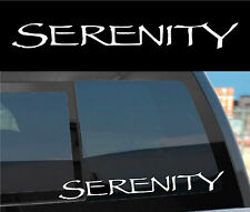 "FIREFLY SERENITY Vinyl Decal Sticker ""SERENITY"" -cheap gift!"