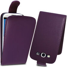 Purple PU Leather Flip Case Pouch for Samsung Galaxy S3 GT-i9300 SIII
