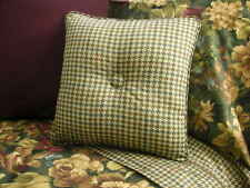 NEW Custom Ralph Lauren Edgefield Check Throw Pillow 1 Button