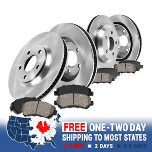 Front And Rear Rotors & Ceramic Pads For 2007 2008 2009 2010 2011 2012 Mazda CX7