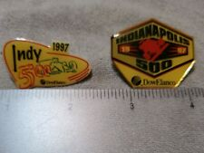 1997 Indy 500 Race 2 Different Pins Sponsored by Dow Elanco New