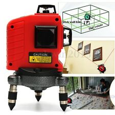 3D 12 Lines 360° Self Leveling Laser Level Measure Horizontal & Vertical Cross