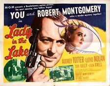 LADY IN THE LAKE (1947) Half sheet poster style A / Raymond Chandler adaptation