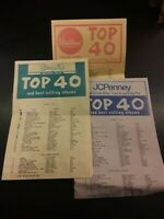 Top 40 music chart pamphlets Vintage Lot local Shopko Woolworth Musicland J1