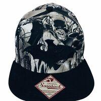 Batman DC Comics Embroidered Bat Logo Comic Book Print Snapback Hat Trucker Cap