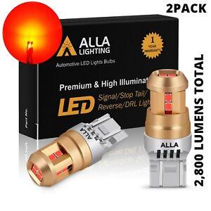 LED Red 7443 REAR Turn Signal Light Lamps for Subaru, Heavy Duty Aluminum H-Sink