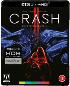 CRASH (1996) 4K UHD Blu-Ray BRAND NEW Free Ship (USA Compatible)