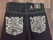 Red Ape Dark Denim Jeans Size 7 XL White Pocket Designs NWT