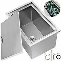 56X43X31cm Drop In Ice Chest Bin W/ Cover BBQ Countertop Beer Cooler