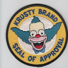 PATCH THE SIMPSONS KRUSTY BRAND SEAL OF APPROVAL  IRON ON