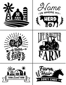 MDC Reusable Adhesive Silkscreen Stencil FARMHOUSE MINIS - DIY - CHALK ART INK