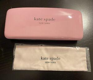 Kate Spade New York Hard Shell Sunglass Eyeglass Case Pink & Green NWOT