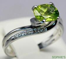 Peridot Solitaire 18k Engagement Rings