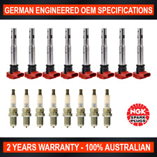 8x NGK Platinum Spark Plugs & 8x Swan Ignition Coil for Audi A8 Q7 R8 S5 S6