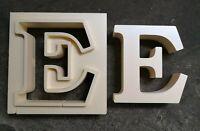 """Beton Gießform Styrodur beliebige """"Buchstabe / Zahl"""" 35x6 cm personalisierbar 3D"""