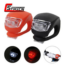 2pcs Silicone LED Bicycle Head Light Front Rear Safety Warning Lights for Bike
