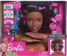 Barbie Sparkle Deluxe Styling Head-Afro Cabello