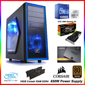 Gaming PC INTEL 10TH GEN i9 10900, GTX1660 Gaming OC 6GB, 1TB SSD, 16GB RAM,650W