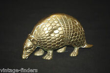 Vintage Brass Armadillo Figurine Texas State Animal
