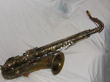 1929 Conn Chu Tenor Sax/Saxophone, Worn Silver Plate, Plays Great!