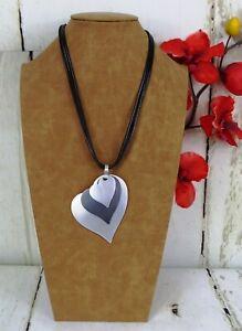 Damen Modekette Halskette Kette Lagenlook Modeschmuck Kurzkette Grau Silber Matt