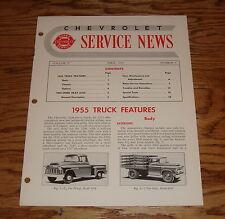 Original 1955 Chevrolet Service News Vol 27 #4 55 Chevy Truck Features