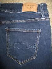 ABERCROMBIE & FITCH Perfect Stretch Dark Blue Denim Jeans Womens Size 2 S x 28.5