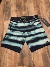 """Roark Savage Buff Bay 19"""" Boardshorts Aqua Blue Mens Sz 32 NWT $60 Stretchy"""