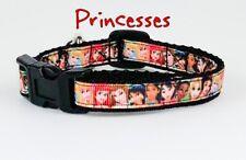 "Princesses cat or small dog collar 1/2""wide adjustable handmade bell Disney"