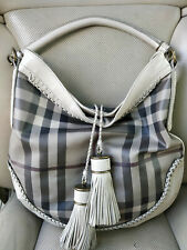 Burberry Parade Limited Tassel Smoked Checked Hobo Satchel Bag Purse Shoulder