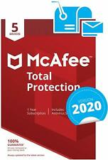McAfee Total Protection 2020 | 5 Devices | 1 Year | PC/Mac/Android/Smartphones