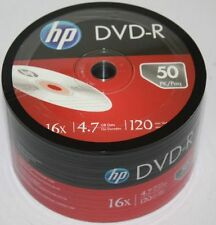 50 Brand new HP 16x DVD-R Media Disk 4.7GB 120MIN Blank Recordable DVD