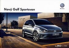 Volkswagen Vw Golf Sportsvan 05 / 2014 catalogue brochure tcheque Czech rare